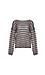 Mystree Striped Back Knot Sweater Thumb 1
