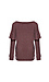 Chaser Love Knit Long Sleeve Ruffle Dolman Pullover Thumb 2