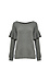 Chaser Love Knit Long Sleeve Ruffle Dolman Pullover Thumb 1