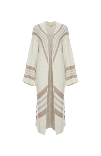 Mystree Chevron Print Long Cardigan Slide 1
