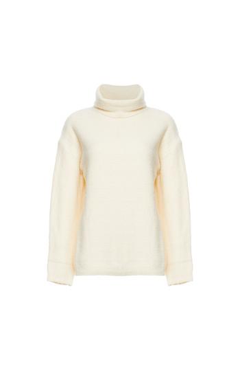 Mystree Turtleneck Fuzzy Sweater Slide 1