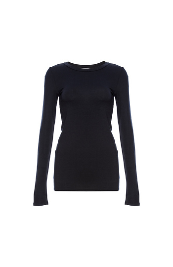 Long Sleeve Round Neck Top Slide 1