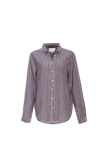 Striped Button Up Shirt Slide 1