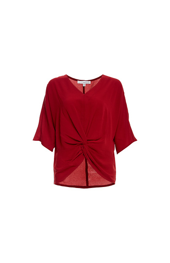 Front Knot Dolman Sleeve Top Slide 1