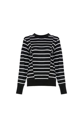 Contrast Stripes Sweater Slide 1