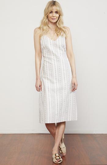Hana Striped Slip Dress Slide 1