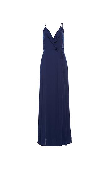 Sleeveless Faux Wrap Maxi Dress Slide 1