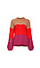 Vero Moda Round Neck Color Block Cable Sweater Thumb 1