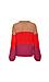 Vero Moda Round Neck Color Block Cable Sweater Thumb 2