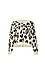Leopard Print Crew Neck Sweater Thumb 1