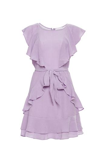 Flutter Sleeve Ruffled Dress Slide 1