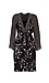 Mystree V-Neck 3/4 Sleeve Printed Dress Thumb 1