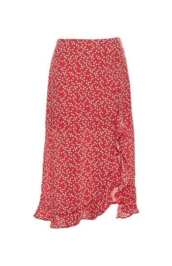 Hearts Printed Ruffle Skirt Slide 1