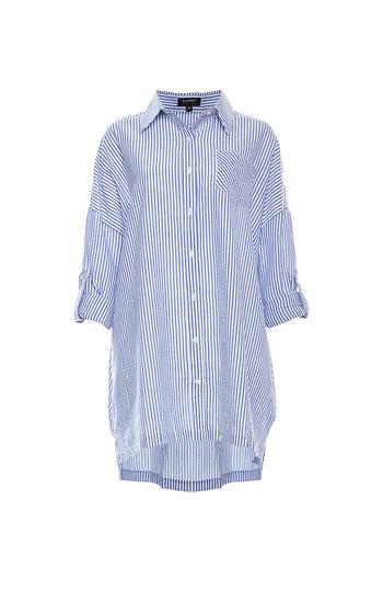 Button Up Oversized Shirt Tunic Slide 1