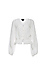 Buttoned Front Blouson Sleeves Top Thumb 1