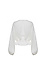 Buttoned Front Blouson Sleeves Top Thumb 2