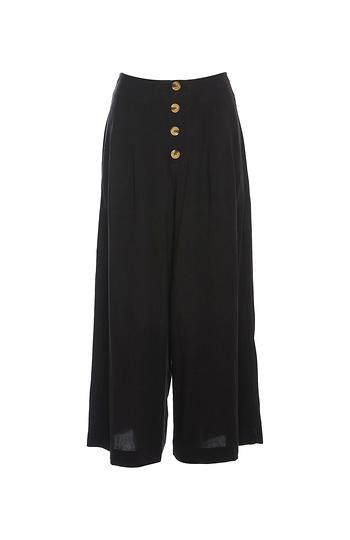 Buttoned Front Wide Leg Culotte Slide 1