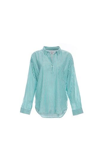 Velvet by Graham & Spencer Cotton Stripe Shirting Slide 1