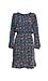 Long Sleeve Print Dress with Ruffle Hem Thumb 1