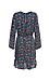 Long Sleeve Print Dress with Ruffle Hem Thumb 2
