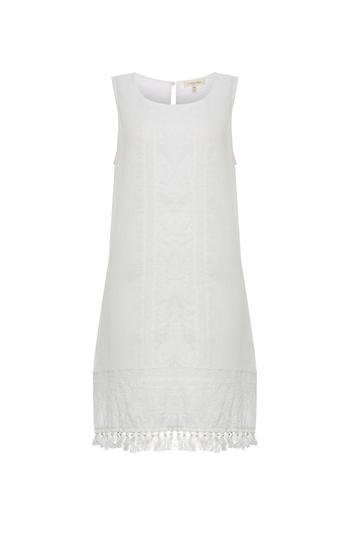 Sleeveless Embroidered Dress Slide 1