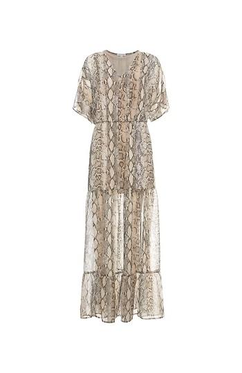 Surplice Short Sleeve Maxi Dress Slide 1