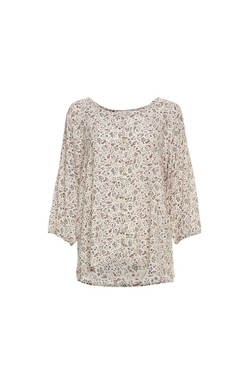 Buttoned Front Printed Top Slide 1