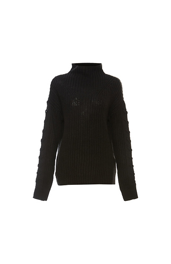 Vero Moda Long Sleeve Funnel-neck Textured Sweater Slide 1