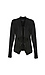 Liverpool Draped Perforated Suede Jacket Thumb 1
