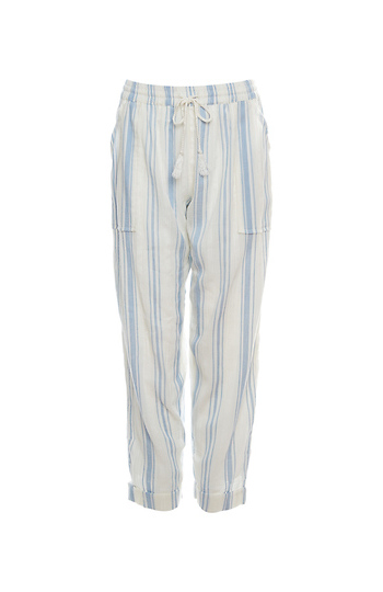Striped Drawstring Gauze Pants Slide 1