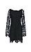 Lace Long Sleeve Shift Dress Thumb 1