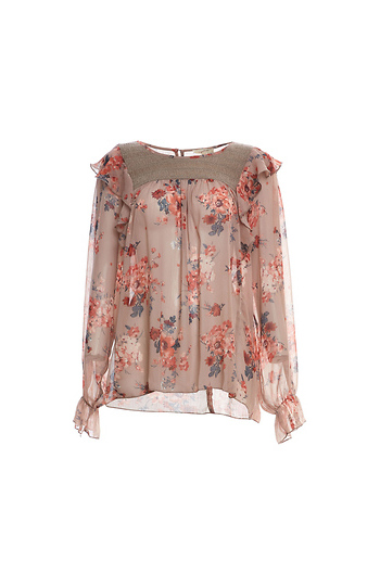 Mystree Floral Long Sleeve Top Slide 1