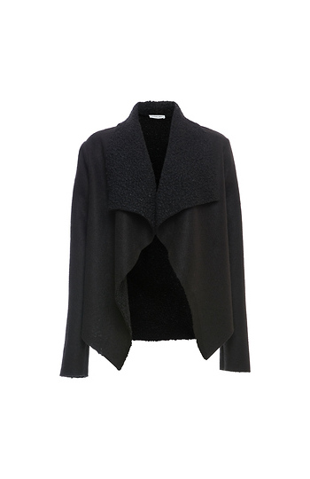 Shearling Drape Jacket Slide 1