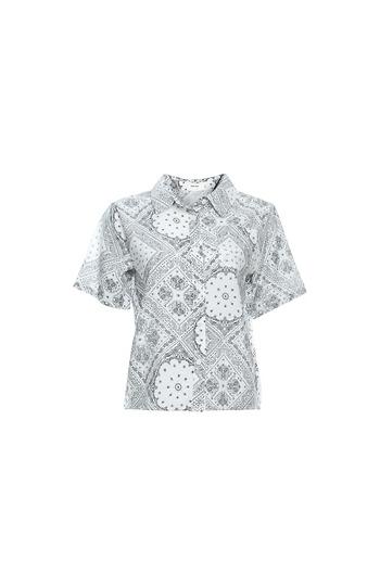 Mod Ref Short Sleeve Scarf Print Shirt Slide 1