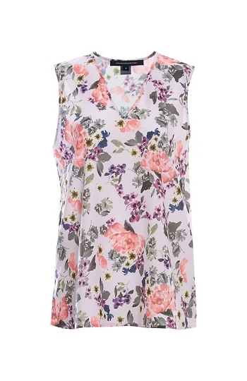 French Connection V-Neck Sleeveless Printed Top Slide 1