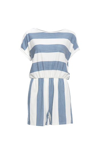 Nautical Stripe Comfy Romper Slide 1