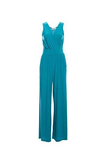 Elle Surplice Sleeveless Jumpsuit Slide 1
