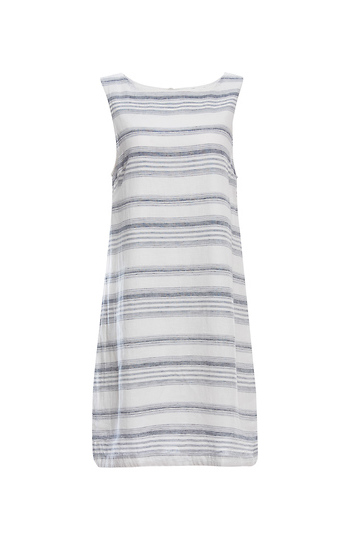 Beach Lunch Lounge Striped Sleeveless Dress Slide 1