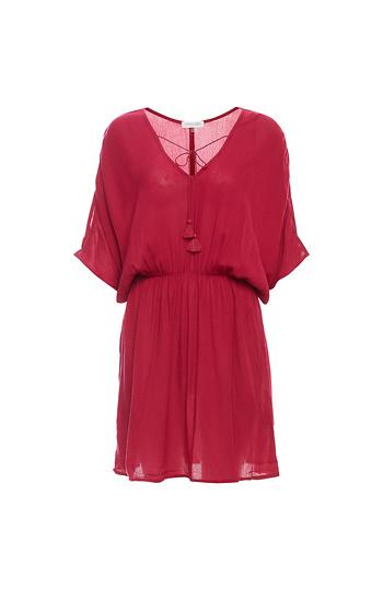 V-Neck Elastic Waist Dress Slide 1