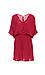 V-Neck Elastic Waist Dress Thumb 1