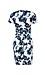 Floral Short Sleeve Sheath Dress Thumb 2
