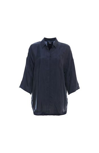 French Connection 3/4 Sleeve Cupro Shirt Slide 1