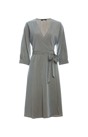 3/4 Sleeve Wrap Dress Slide 1