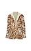 CoffeeShop Hooded Leopard Print Fleece Jacket Thumb 1