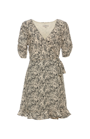 Short Sleeve Printed A-Line Dress Slide 1