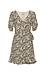 Short Sleeve Printed A-Line Dress Thumb 1