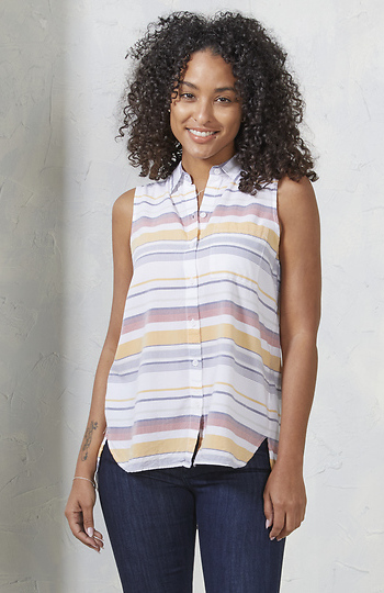 Beach Lunch Lounge Sleeveless Button Down Slide 1
