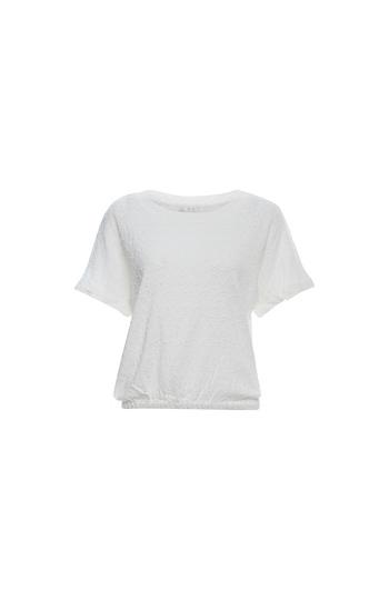 Line & Dot Short Sleeve Embroidered T-Shirt Slide 1