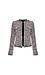 Multicolor Open Front Tweed Jacket Thumb 1