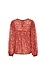 Long Sleeve Printed Top with Crochet Inserts Thumb 2